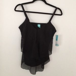 Other - Swim tank black mesh with lining size 32D